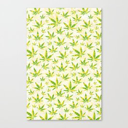 Weed OG Kush Pattern Canvas Print