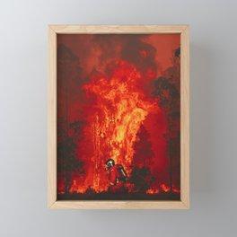 Firefighter Hero Framed Mini Art Print