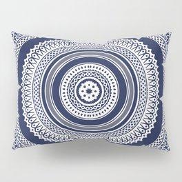 Denim Mandala Pillow Sham