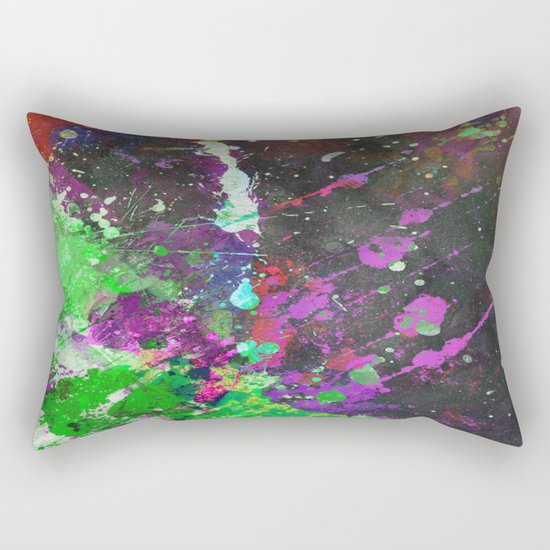 Breakthrough - Multi Coloured Abstract Textured Painting Rectangular Pillow