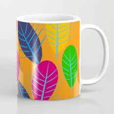 Fall Leaves Pop Pattern Design Coffee Mug