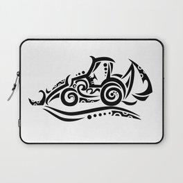 Backhoe Tribal Tattoo Laptop Sleeve