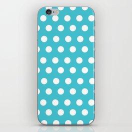 Happy Dot Aqua iPhone Skin