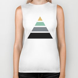 DIVIDED PYRAMID TRIANGLE WIT GOLDEN CAPSTONE Biker Tank