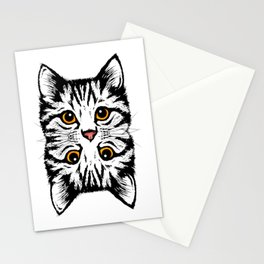 TWIN CAT Stationery Cards