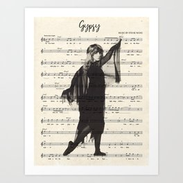 Stevie Nicks Music Sheet Art Print Kunstdrucke