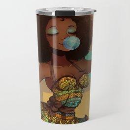 African Woman Travel Mug