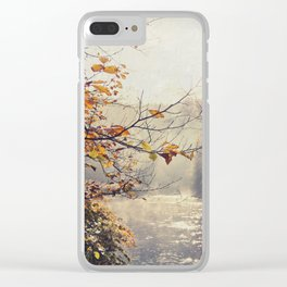 Light Painting - Fall at the River Clear iPhone Case