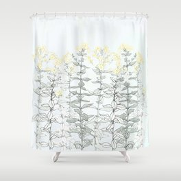 Growing up - floral Shower Curtain