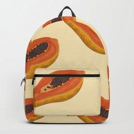 BRIGHT SUMMER PAPAYA FRUIT POP ART PATTERN Backpack