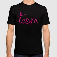 #TCOM Mens Fitted Tee Black MEDIUM