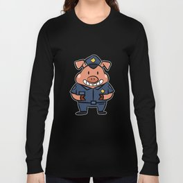 Police security piglets pig children gift Long Sleeve T-shirt