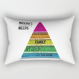 Maslow's Hierarchy of Needs, Brights Rectangular Pillow
