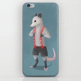 Possum in Suspenders iPhone Skin