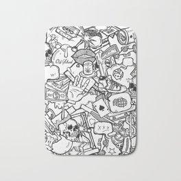 Cute mixed doodles art Bath Mat