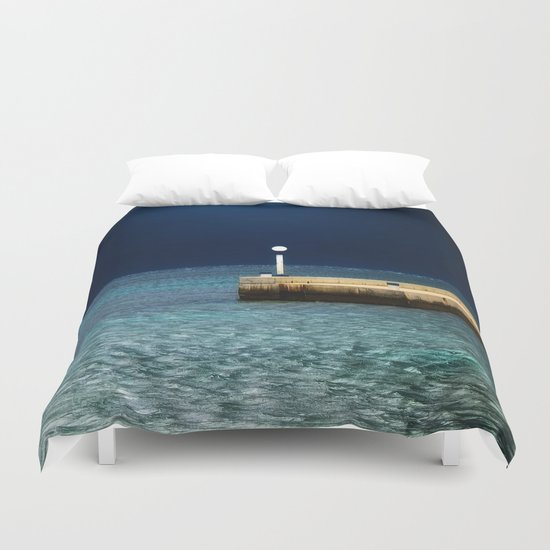 Light in the Sea Duvet Cover