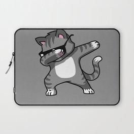 Dabbing Cat Grey Laptop Sleeve