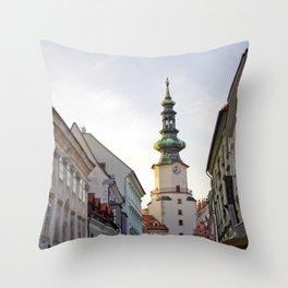 Bratislava Tower Throw Pillow