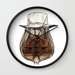 The Old West Battle I Wall Clock