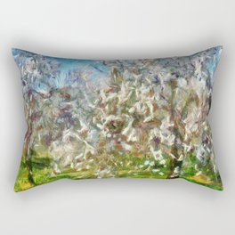Almond Orchard Blossom Rectangular Pillow