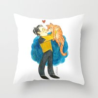 data Throw Pillows featuring Data Hug by Super Group Hugs