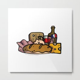 Mouse's French Food Jackpot Metal Print