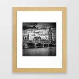 LONDON Westminster Bridge & Big Ben Framed Art Print