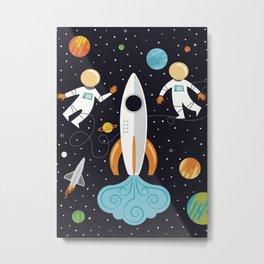 A Walk in Space Metal Print