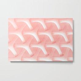 Flamingo color Hexagonal Pattern  Metal Print