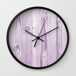 Violet wood | bois violet Wall Clock