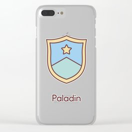 Cute Dungeons and Dragons Paladin class Clear iPhone Case