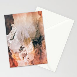 Dreamy Large Quartz Crystals Stationery Cards