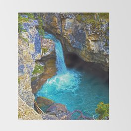 Stanley Waterfall & Beauty Creek, Jasper National Park Throw Blanket