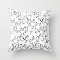 woodland Throw Pillows featuring Woodland by Lydia Meiying