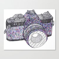 camera Canvas Prints featuring camera by Dal Sohal