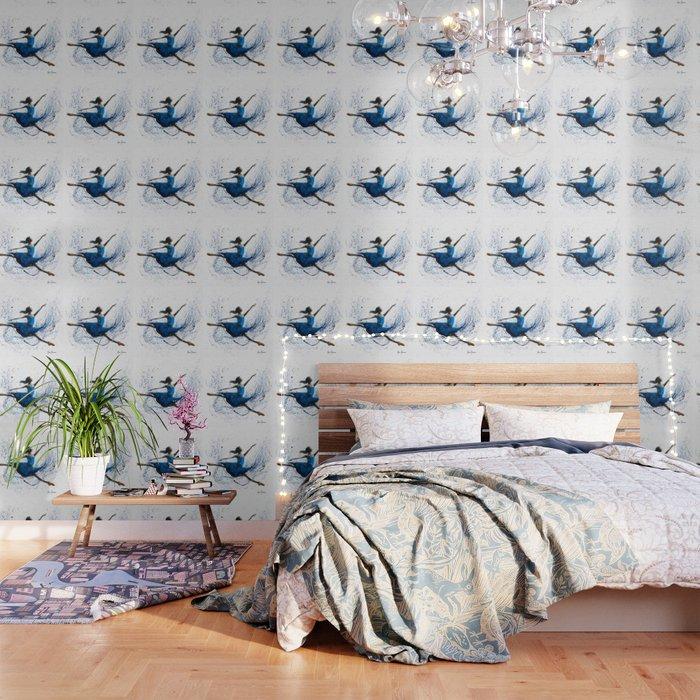 Blue Season Ballerina Wallpaper