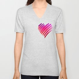 Valentine's day heart Unisex V-Neck