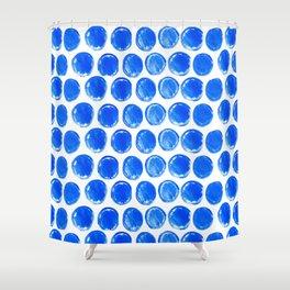 Blue acrylic circles pattern Shower Curtain