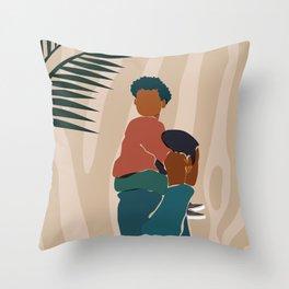 Black Dads Matter Throw Pillow
