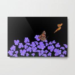 Butterflies & violets Metal Print