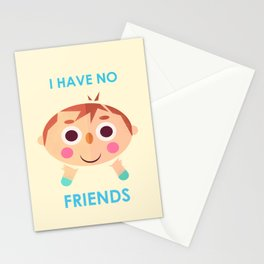 I intend to make friends! Stationery Cards