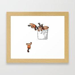 Pocket Red Panda Bears Framed Art Print