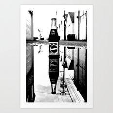 Reflected Pepsi Art Print
