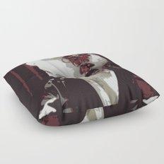 the fair-haired geisha Floor Pillow