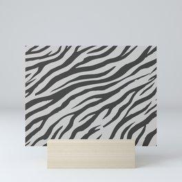 Soft Gray Wildlife Tiger Pattern Mini Art Print