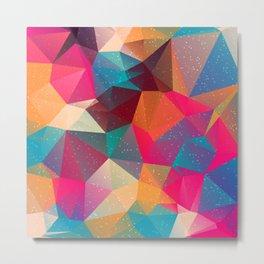 Abstract Polygonal Pattern 15 Metal Print
