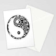 Black and White holes Stationery Cards