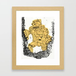 robot showbot Framed Art Print