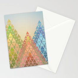 Geometric Christmas Trees 3 Stationery Cards