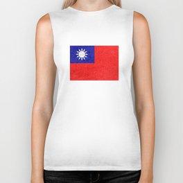 Taiwan flag Biker Tank